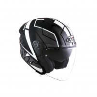 Casco Jet - Demi Jet- KIT BY SUOMY CASCO KYT NF-J MOTION BIANCO