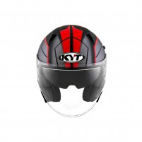 Casco Jet - Demi Jet- KIT BY SUOMY CASCO KYT NF-J MOTION MATT ROSSO FLUO