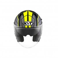 Casco Jet - Demi Jet- KIT BY SUOMY CASCO KYT NF-J MOTION MATT GIALLO FLUO