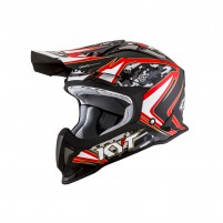 Casco Cross - Enduro- KIT BY SUOMY CASCO KYT STRIKE EAGLE REEF NERO/ROSSO