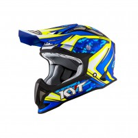 Casco Cross - Enduro- KIT BY SUOMY CASCO KYT STRIKE EAGLE REEF BLU/GIALLO FLUO