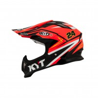 Casco Cross - Enduro- KIT BY SUOMY CASCO KYT STRIKE EAGLE SIMPSON REPLICA ARANCIONE