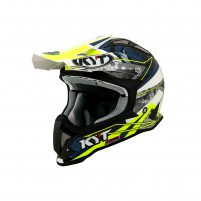 Casco Cross - Enduro- KIT BY SUOMY CASCO KYT STRIKE EAGLE WEB MATT BIANCO/BLU