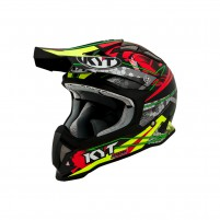 Casco Cross - Enduro- KIT BY SUOMY CASCO KYT STRIKE EAGLE WEB MATT VERDE/ROSSO