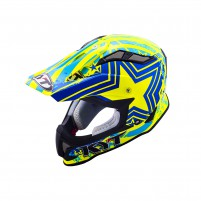 Casco Cross - Enduro- KIT BY SUOMY CASCO KYT STRIKE EAGLE PATRIOT BLU/ GIALLO FLUO