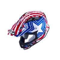 Casco Cross - Enduro- KIT BY SUOMY CASCO KYT STRIKE EAGLE PATRIOT BLU/ ROSSO