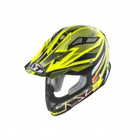 Casco Cross - Enduro- KIT BY SUOMY CASCO KYT STRIKE EAGLE STRIPE GIALLO FLUO