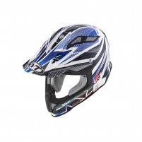 Casco Cross - Enduro- KIT BY SUOMY CASCO KYT STRIKE EAGLE STRIPE BIANCO/BLU