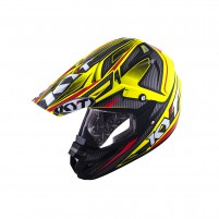 Casco Cross - Enduro- KIT BY SUOMY CASCO KYT CROSS OVER POWER NERO / GIALLO FLUO