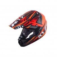 Casco Cross - Enduro- KIT BY SUOMY CASCO KYT CROSS OVER POWER NERO / ROSSO