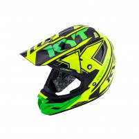 Casco Cross - Enduro- KIT BY SUOMY CASCO KYT CROSS OVER KTIME GIALLO/VERDE FLUO