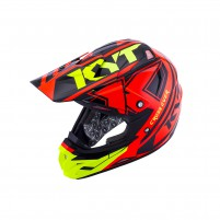 Casco Cross - Enduro- KIT BY SUOMY CASCO KYT CROSS OVER KTIME ROSSO/GIALLO FLUO