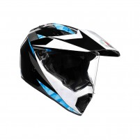 Casco Integrale- AGV AX9 PLK MULTI NORTH NERO/BIANCO/CIANO
