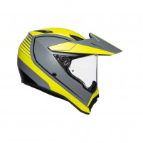 Casco Integrale- AGV AX9 PLK MULTI PACIFIC ROAD MATT GRIGIO/GIALLO FL