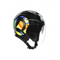 Casco Jet - Demi Jet- AGV ORBYT TOP SUN&MOON46 NERO