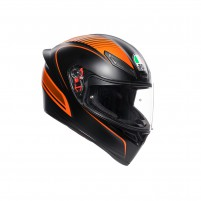 Casco Integrale- AGV K1 REPLICA WARMUP MATT NERO/ARANCIONE