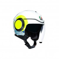 Casco Jet - Demi Jet, AGV ORBYT MULTI SUNSET WHITE/YELLOW FLUO