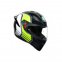 Casco Integrale, AGV K1 MULTI POWER GUNMETAL/WHITE/GREEN