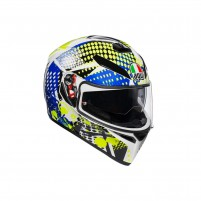 Casco Integrale, AGV K3 SV MPLK MULTI POP WHITE/BLUE/LIME