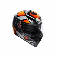 Casco Integrale, AGV K3 SV MPLK MULTI LIQUEFY BLACK/ORANGE