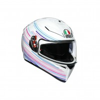 Casco Integrale, AGV K3 SV MPLK MULTI SAKURA PEARL WHITE/PURPLE