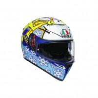 Casco Integrale, AGV K3 SV MPLK TOP ROSSI WINTER TEST 2016
