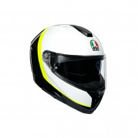 Casco Modulare, AGV SPORTMODULAR MPLK MULTI RAY CARBON/WHITE/YELLOW FLUO