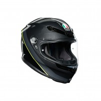 Casco Integrale, AGV K6 MPLK MULTI MINIMAL GUNMET/BLACK/YELLOW FL