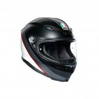Casco Integrale, AGV K6 MPLK MULTI MINIMAL PURE MATT BLACK/WH/RED