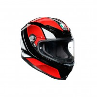 Casco Integrale, AGV K6 MPLK MULTI HYPHEN BLACK/RED/WHITE