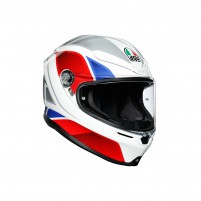 Casco Integrale, AGV K6 MPLK MULTI HYPHEN WHITE/RED/BLUE
