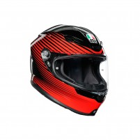 Casco Integrale, AGV K6 MPLK MULTI RUSH BLACK/RED