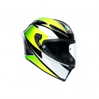 Casco Integrale, AGV CORSA R MPLK MULTI SUPERSPORT BLACK/WHITE/LIME