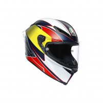 Casco Integrale, AGV CORSA R MPLK MULTI SUPERSPORT BLUE/RED/YELLOW