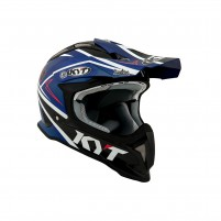 Casco Cross - Enduro- KYT BY SUOMY CASCO KYT STRIKE EAGLE SIMPSON REPLICA BLU