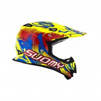 Casco Cross - Enduro- SUOMY CASCO MR JUMP GRAFFITI ROSSO / GIALLO