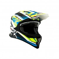 Casco Cross - Enduro- SUOMY CASCO ALPHA WAVES MATT GIALLO/BIANCO
