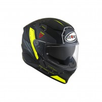 Casco Integrale- SUOMY CASCO SPEEDSTAR AIRPLANE MATT GRIGIO/GIALLO