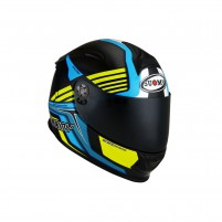 Casco Integrale- SUOMY CASCO SR-SPORT ATTRACTION LIGHT BLU/GIALLO