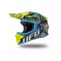 Casco Cross - Enduro- Ufo Plast INTREPID BLK SKY BLU