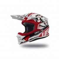 Casco Cross - Enduro- Ufo Plast INTREPID WHITE RED