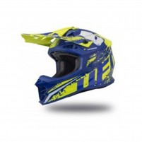Casco Cross - Enduro- Ufo Plast INTREPID BLUE YELLOW