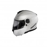 CASCO MODULARE- SMOOK H-FLIP UP BIANCO