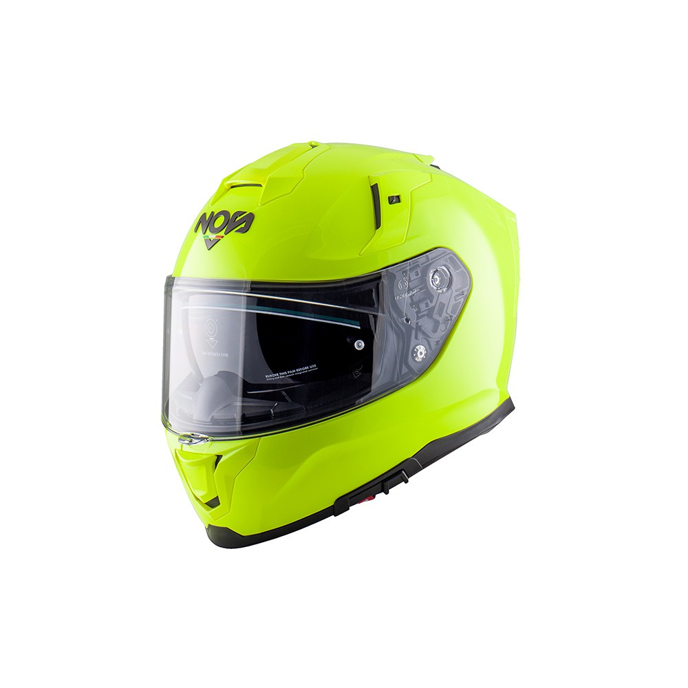 Casco Integrale- NOS NS-10 FULL FACE FLUOR YELLOW