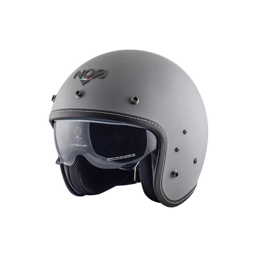 Casco Jet - Demi Jet- NOS NS-1F OPEN FACE SEAL GREY MATT