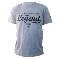 T-shirt Tourist Trophy Legend grigia