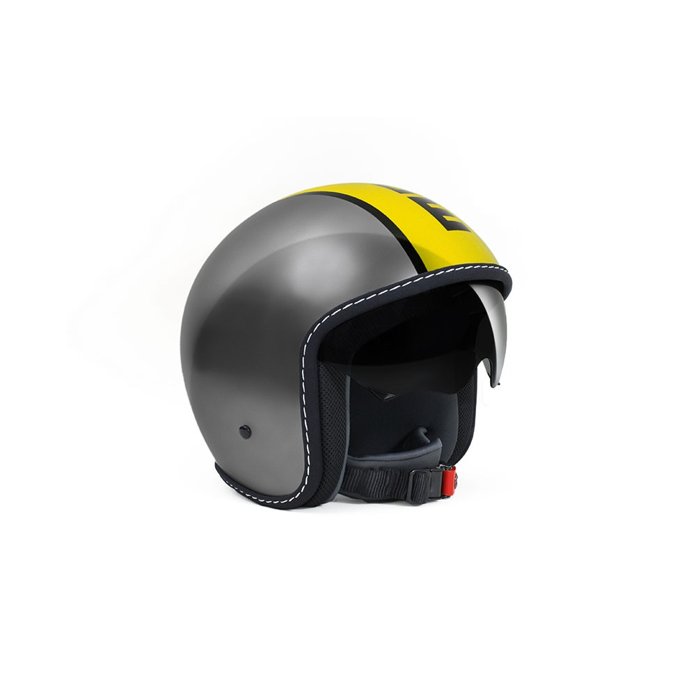 Casco Jet - Demi Jet, Momo Design Blade Metal Decal Giallo